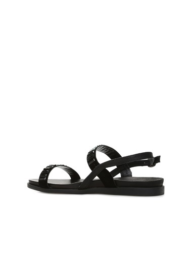 Divarese 5023058 Süet Kadın Sandalet Siyah